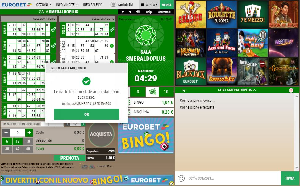 Sale bingo truccate